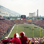 RT @joefo20 Great view from the North EndZone #Missoula #Montana #UofM http://t.co/JwPws2Veus