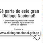 Compatriota en el exterior envía tus aportes al #DiálogoPorEquidad en #Ecuador a: http://t.co/W5QcSZfhIz http://t.co/24DbWWLX2e