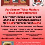 Are you a #darlingtonfc supporter/volunteer. Dont miss our great offer to you. Available daily #darlobizhour http://t.co/0fd9Jb5wrk