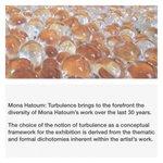 #QMCatalogs Mona Hatoum: Turbulence brings to the forefront the diversity of Mona Hatoum's #Doha #Qatar http://t.co/cS2VCcuEor