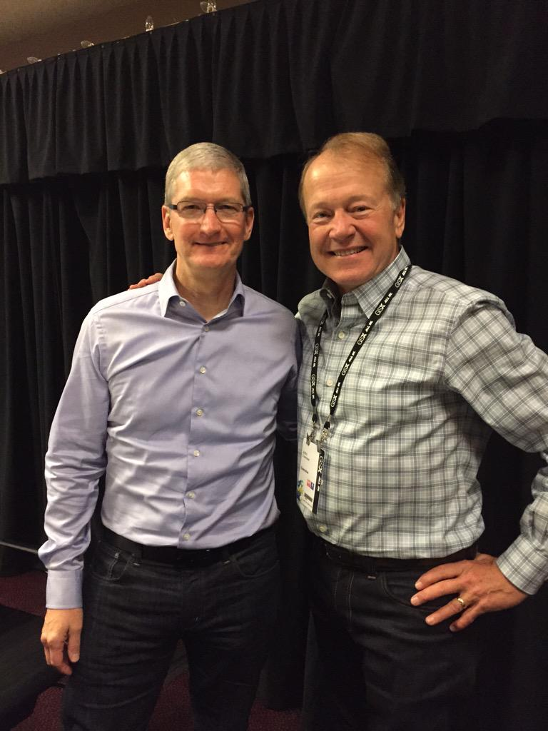 Changing the game in enterprise mobility. I am thrilled to bring this home. Thanks @tim_cook & John Chambers #gsx http://t.co/YaPutNkttJ