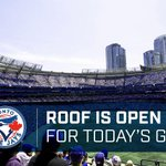 The @Rogers_Centre roof will be open for tonights game http://t.co/lXDJ95bSyf