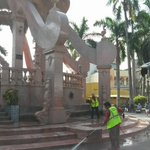 Lavado a Kiosko de Plaza de Armas #Tampico @gustavotampico @GobTampico #EstamosCumpliendo http://t.co/WjDXoUZIpb