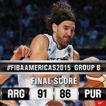 RT @FIBA: #FIBAAmericas2015: Argentina, led by @LScola4 (22PTS/14REB), beat Puerto Rico, 91-86.