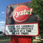 Auburn wants to eat Louisvilles sack according to Krystals (White Castle is better anyway) http://t.co/2LJZKLyXzq