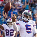 Heres to many more Tyrod TD celebrations. Watch highlights to see why he earned the job: http://t.co/2HVRJ0JggO http://t.co/0Ec8MM8pft