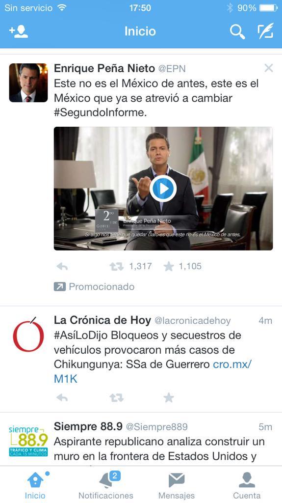 No tendría nada de raro que @EPN promocionara su #SegundoInforme de no ser porque vamos en el Tercero ... http://t.co/PMUlLN3RHr