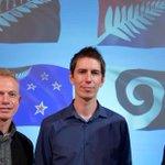 The designers behind the #nzflag designs: Alofi Kanter (left), Andrew Fyfe and Kyle Lockwood http://t.co/FVtZhGNT1B http://t.co/4YdMtJ5JxA