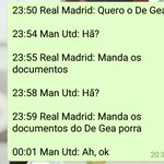 A conversa do Real Madrid com o Manchester United sobre o De Gea (via @YgoorDuart) https://t.co/5BEMQr3O77