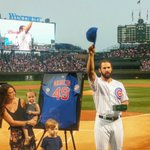 Welcome home, @JArrieta34! Wrigley Fields finest gave a standing ovation for Jakes no-hitter last night. http://t.co/tApUzy4dGH