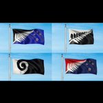 Boring choices.. 2 of the 4 flags are the same design different colours Fern....NZ Sports Logo Koru... http://t.co/qu3M5yVpeu