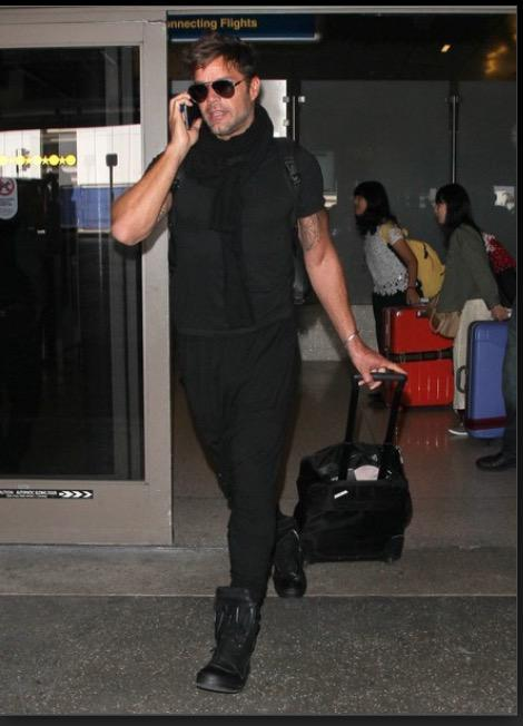 Ricky Martin aterriza en Los Ángeles