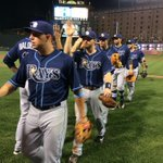 Ballgame! #Rays claim exciting series opener in Baltimore, 6-3. #RaysUp http://t.co/nZknO1Q28A