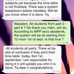 KHAS UTK WARGA FUU  Student dinasihatkn utk tidak dftr hari ini. Dijangka mslh jadual akan timbul jika dftr hari ini. http://t.co/cP6Dip9LqD
