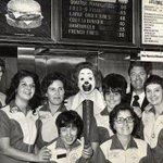 Vintage Ronald McDonald picture posing inside the Des Plaines @McDonalds ~ @McDonaldsCorp #ChicagoHistory http://t.co/984CbGvOae