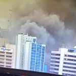 Shot from the @9NewsAdel sky camera of fire in the city. http://t.co/A1q0UORR3q