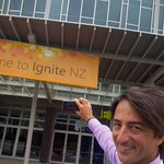 Hey New Zealand! Psyched to be here to help open our first Ignite conference outside the US! http://t.co/GwMwws7Bxi