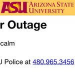 Be careful out there during the storm. If you are currently without power, contact @ASUPolice at 480-965-3456 #azwx http://t.co/XUdG5iMANn