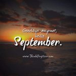 Come September!! Gud morn
