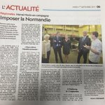 """@Herve_Morin : """"Imposer la #Normandie"""" Article de ce jour ds @LaPresseManche avec @DMARGUERITTE cc @NdieConquerante http://t.co/HIwNPO8hSw"""