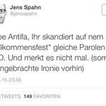 Liebe Union, ihr skandiert in nem Polittalk gleiche Parolen wie NPD. Und merkt es nicht mal. #hartaberfair #Herrmann http://t.co/LqhrGRsOJ4