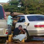 Beware of these guys who siphon fuel at the Car wash...times are Hard! http://t.co/JIGFLFag4W