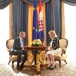 Welcoming @eucopresident @donaldtusk on his first official visit to Croatia #EUCouncil http://t.co/F63NhfNbZ4