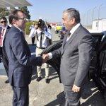 #Cyprus Leaders arrive for #UN hosted talks with SASG @EspenBarthEide & DSASG Lisa Buitenheim http://t.co/Y5eQaKuLJY