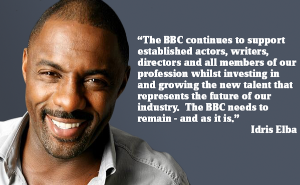Idris Elba on why he is #BackingTheBBC. Agree with him? Sign the pledge here: http://t.co/Zh1MiD7keq http://t.co/DnS8rEcfPD