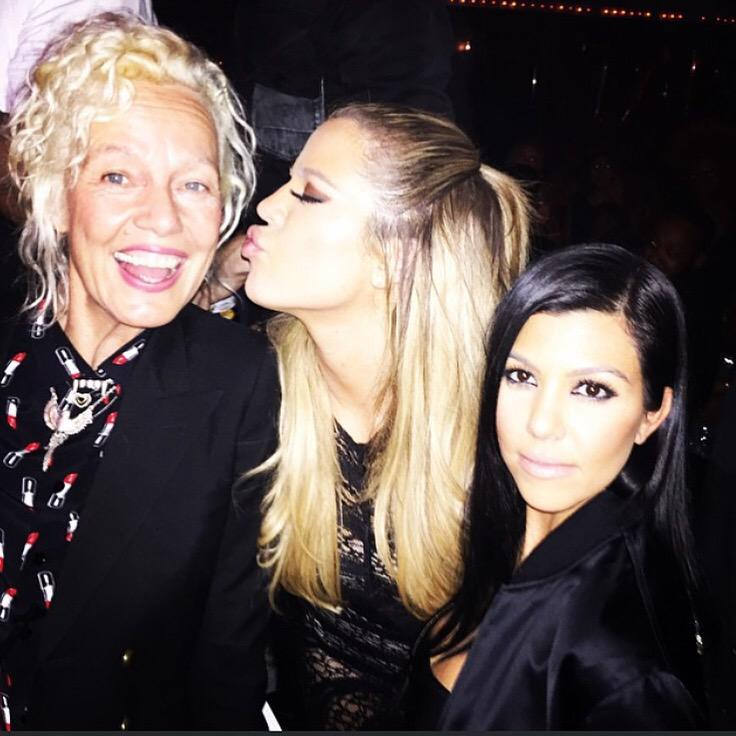 Last night with legendary ???? @ellenvonunwerth and ???? @kourtneykardash http://t.co/btk3SJ9LFg
