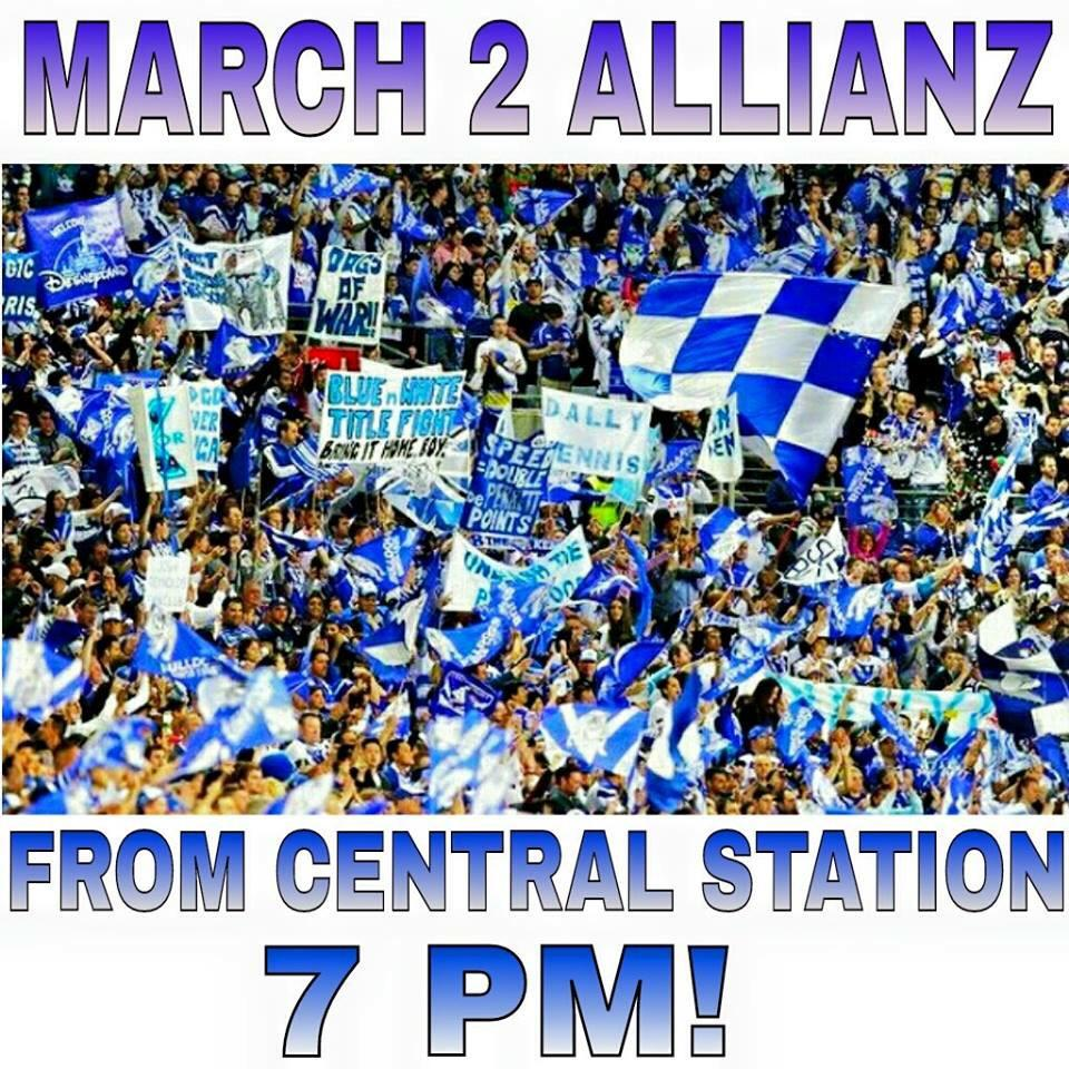 Our March to BLUE AND WHITE terratority begins at 7pm from Central Station - RT! @NRL_Bulldogs @AllianzStadium http://t.co/o6QZIYkBF5