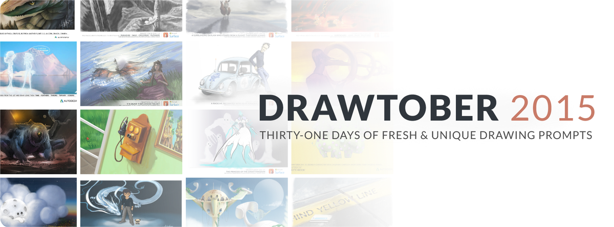 Are you ready for #Drawtober2015? Each day we'll post a drawing prompt on @DeviantArt! Can you make it all 31 days? http://t.co/qSn3YeUNLH