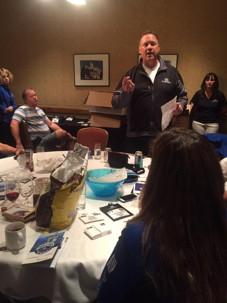.@DLCCanadaInc's Pres @garymauris doing his best Patton & @HeymanHustle with the troops before start of #DLCNSC2015 http://t.co/ArATCs1B2w