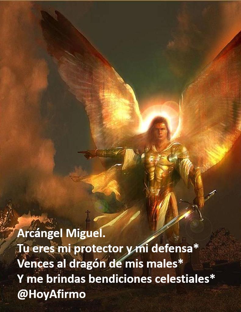 Arcángel Miguel. Tu eres mi protector y mi defensa*  Vences al dragón de mis males* Y me brindas bendiciones* http://t.co/UJq7zCG9C2