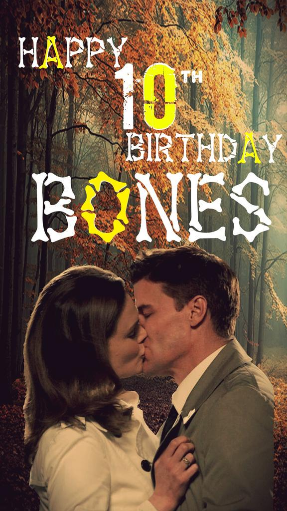 Happy 10th Birthday @BONESonFOX! @HartHanson @emilydeschanel @David_Boreanaz @KathyReichs @surfwriter123 #BONES http://t.co/IBv2P1jDng