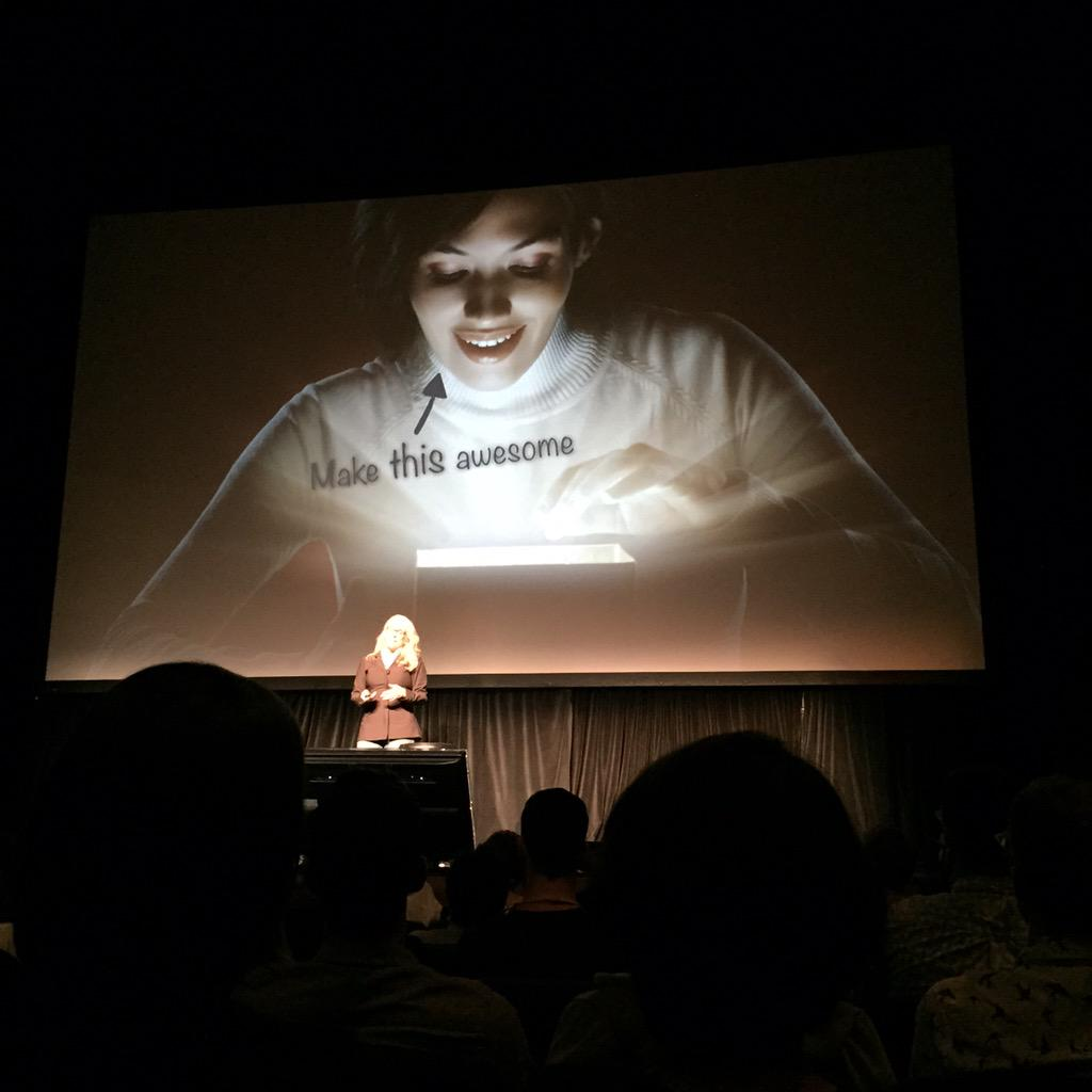 Don't make an awesome product, make an awesome user. ~ Kathy Sierra #xoxofest http://t.co/MHpkNoFPs5