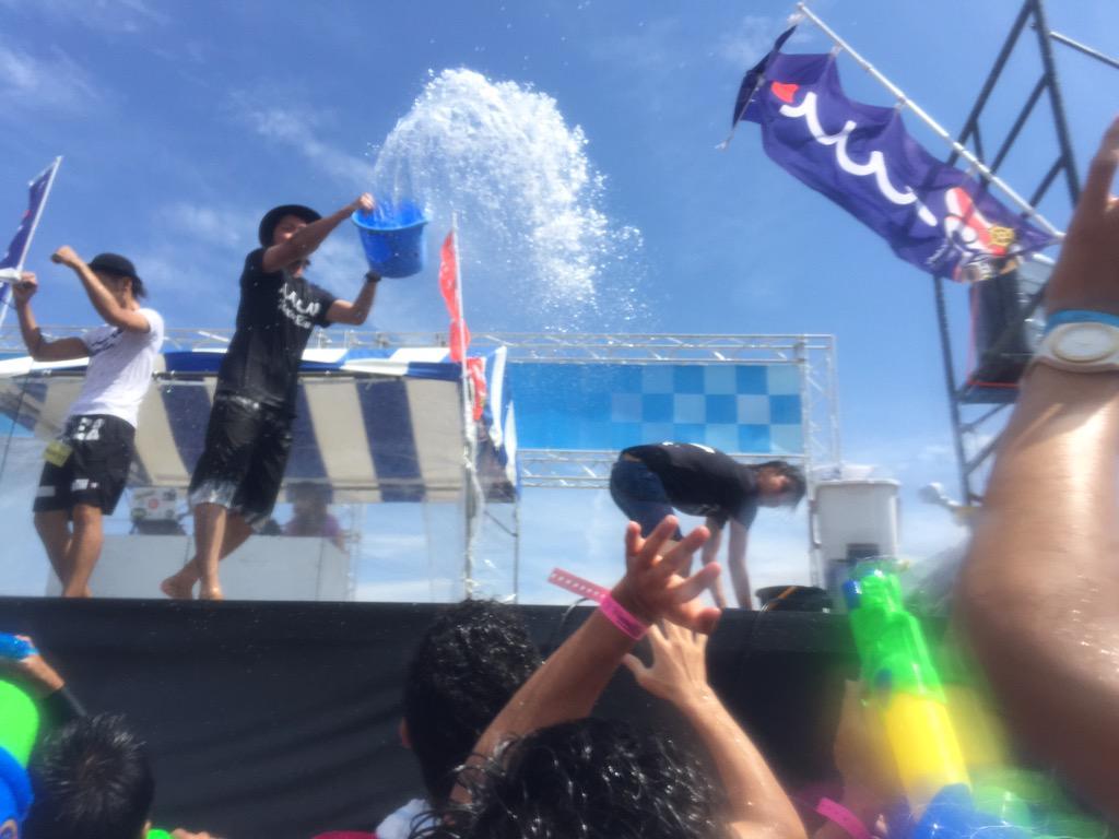 昨日はウォーターラン行ってきたでよ! めちゃくそ楽しかったし踊り狂った!! パリピ最強。 http://t.co/xkfBpuw41T