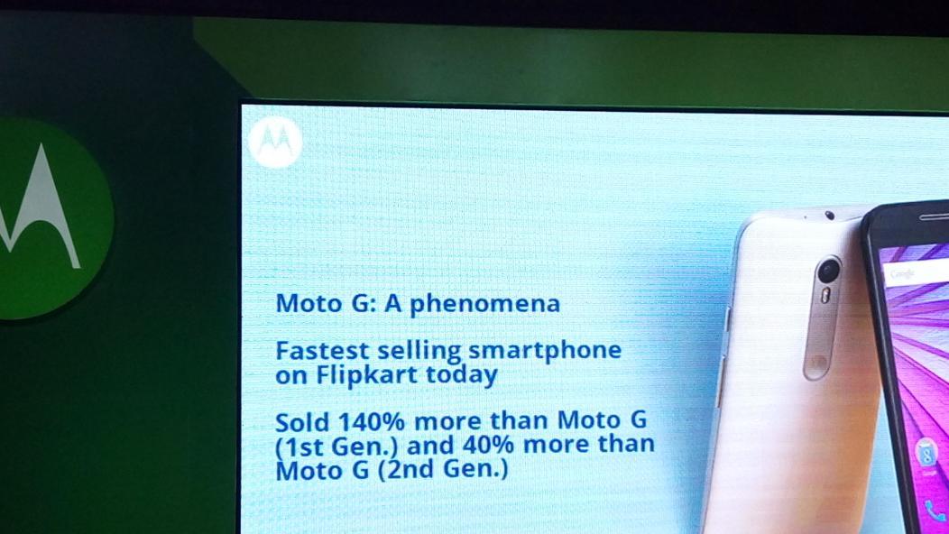 Moto G 3rd Gen is doing really well. Congrats @MotorolaIndia Well deserved! http://t.co/JrXKL7Da5s