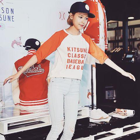The lovely Sooyoung Choi rocking our #kitsunexreebok collection! Now available: http://t.co/wbAOVJUAww http://t.co/Q8DPfiBCwR
