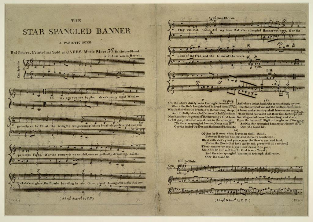 "On this day in 1814, Francis Scott Key wrote the lyrics to ""The Star-Spangled Banner."" http://t.co/fKTr5iH4bM http://t.co/cnhWNj2rY5"