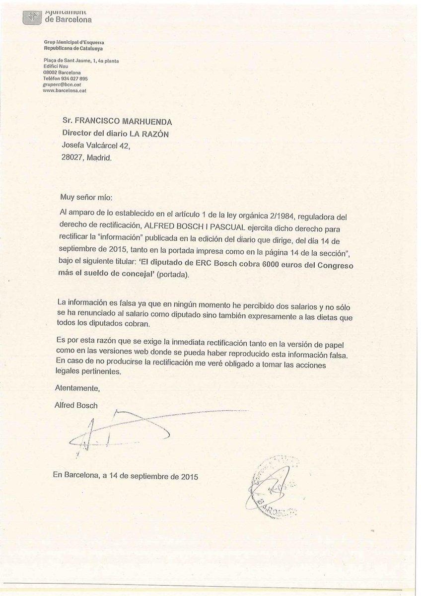 .@pacomarhuenda aquest és el burofax que he enviat exigint una rectificació urgent a la info publicada a @larazon_es http://t.co/5dPdjK29tX