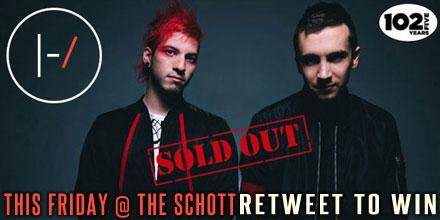 RETWEET & tag your +1 to win tix to SOLD OUT @twentyonepilots hometown show at @TheSchott this Fri.! Ends 9/16 @ 12p http://t.co/Q3DmpzTtx4