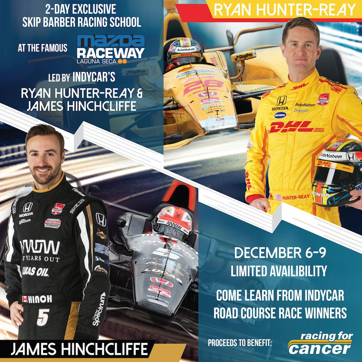 Check out our 2-Day Race School, coming this Dec. at #LagunaSeca with @RaceSkipBarber @RyanHunterReay and @Hinchtown http://t.co/W1mkT5ZJPd
