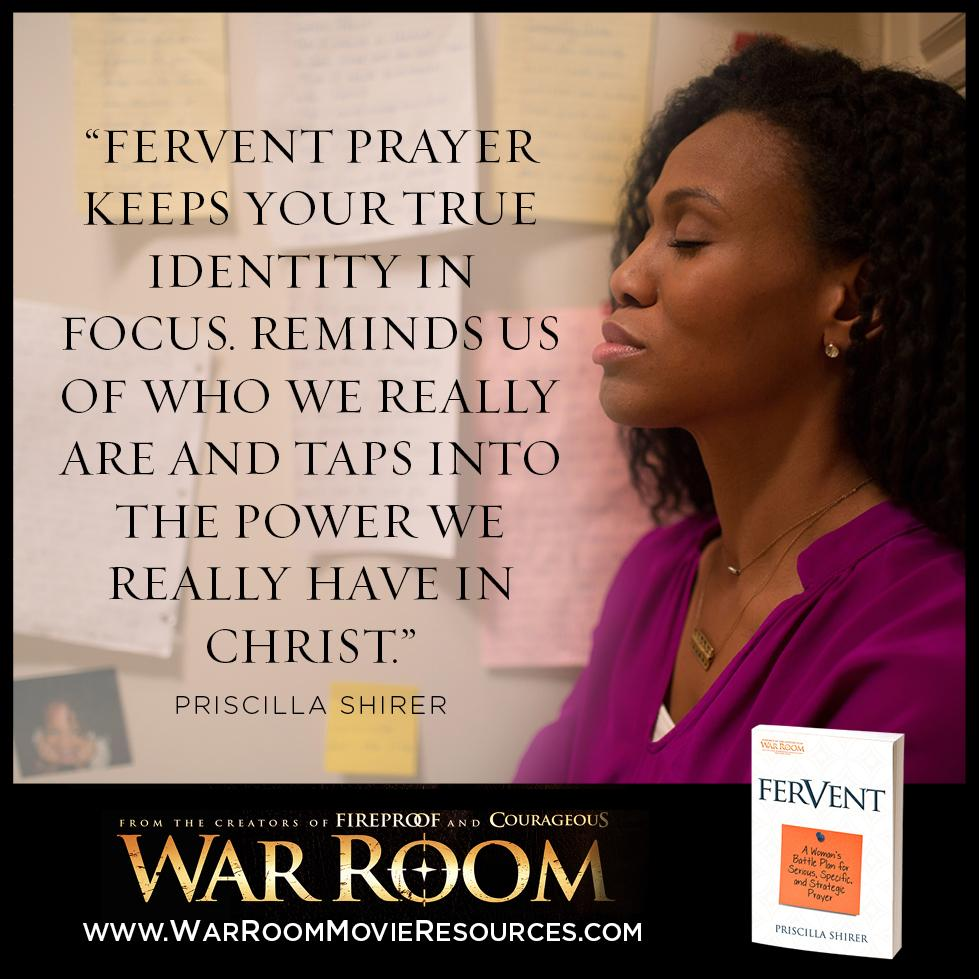 ENTER TO WIN 1 of 200 copies of @priscillashirer's new book, #Fervent. http://t.co/1hqR8ykTRe #WarRoomMovie http://t.co/3lJmLiJehq