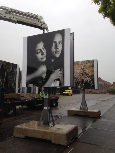 Preparations for the Foam Talent billboard exhibition and @UnseenPhotoFair started in Amsterdam! #unseen2015 http://t.co/r7FD8tmCdd