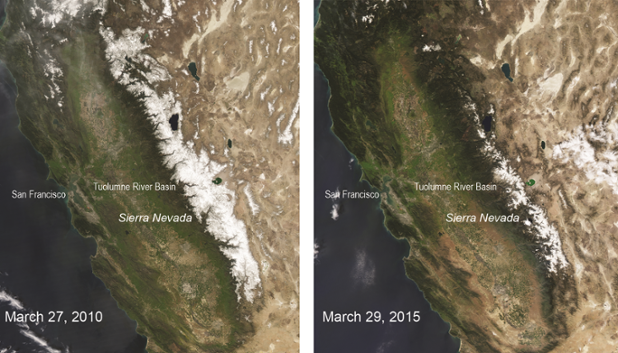 What a difference 5 years makes for snowpack. Hasn't been this bad in 500 years! http://t.co/08QtkY6hsZ http://t.co/wIJygNNX02