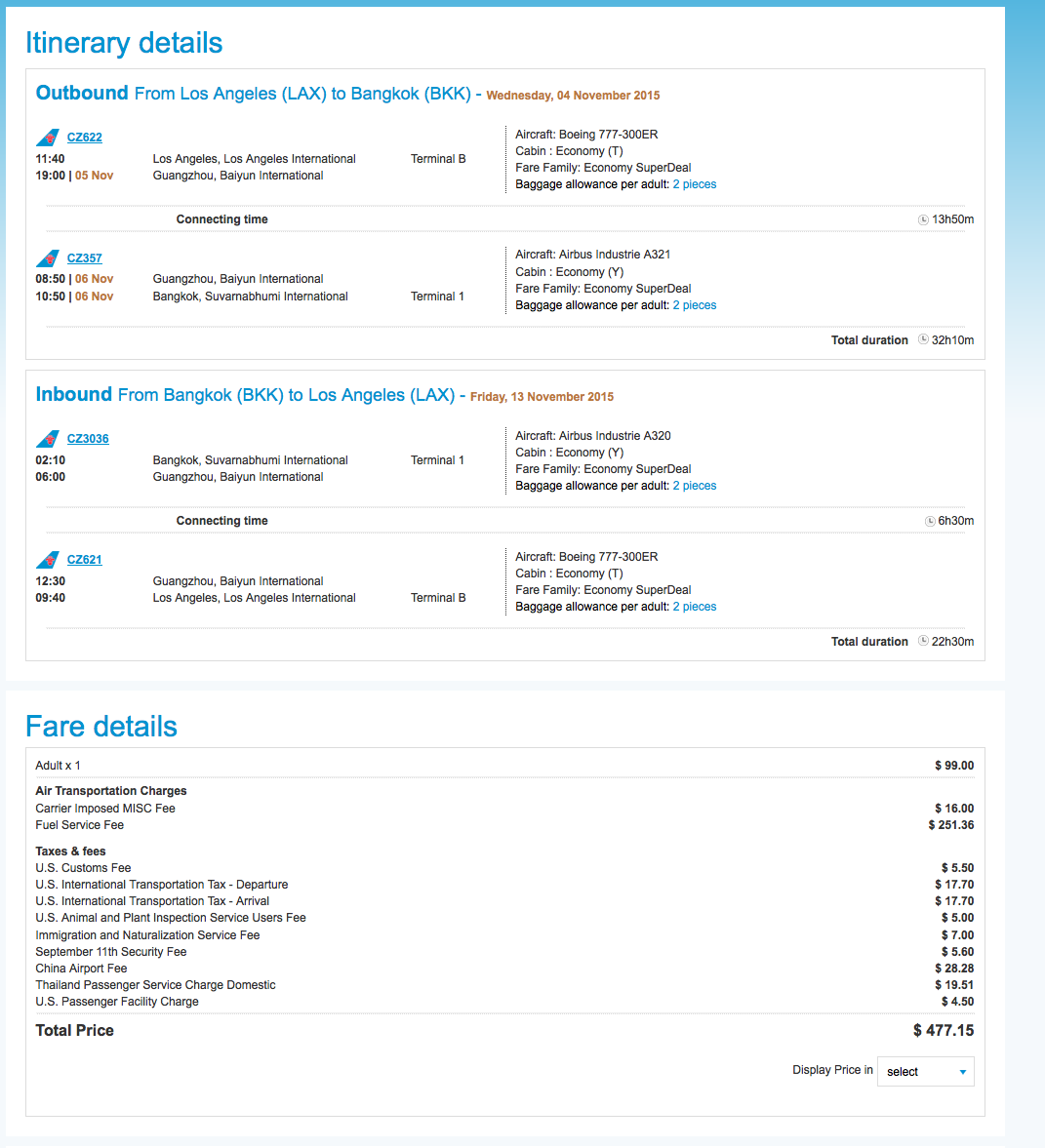 RT @airfarewatchdog: Los Angeles LAX to Bangkok, Thailand BKK $478 roundtrip for fall travel