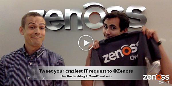Tweet your craziest IT requests to @Zenoss using #IOwnIT & win cool Zenoss zwag! http://t.co/cWNCeURLl9 | #ITProDay http://t.co/MMdRrl617c