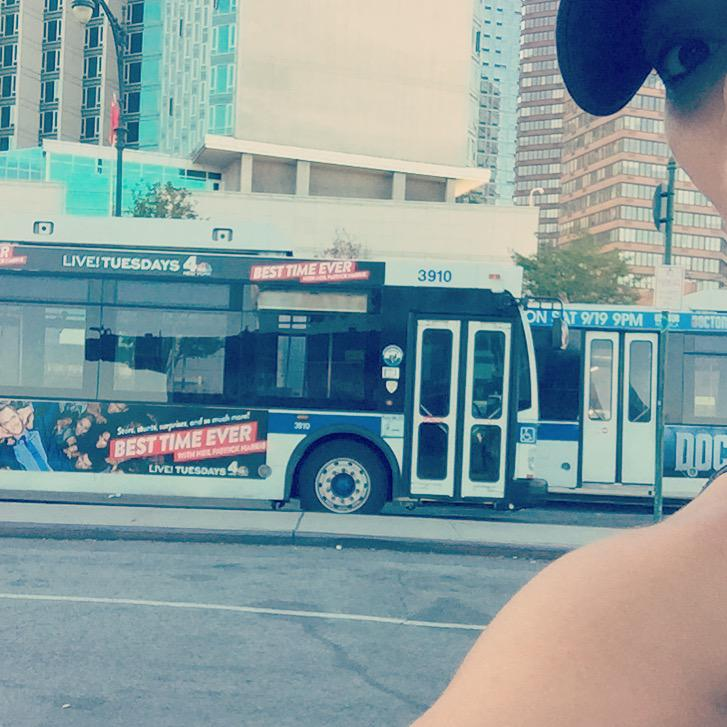 I'm sweating my balls off running to work while @ActuallyNPH just floats by on a bus.. #BestTimeEver http://t.co/JewDNYjxtH