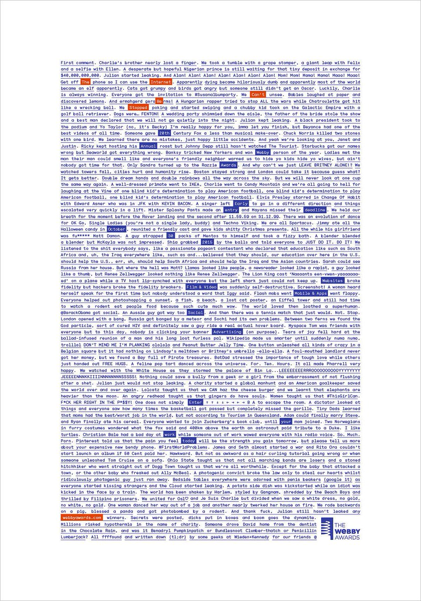 Wieden + Kennedy Tells the Entire History of the Internet in a Single Long-Copy Print Ad. http://t.co/K7aDfFzgdz http://t.co/H10ntzPwKs
